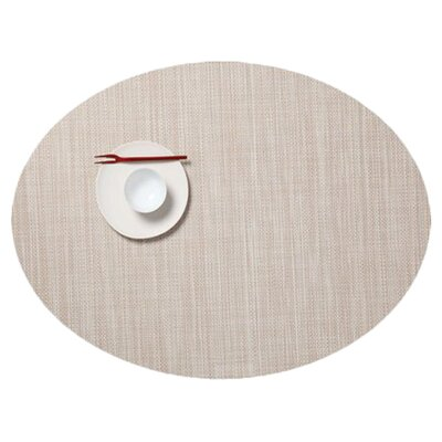 Oval Mini Basketwave Placemat