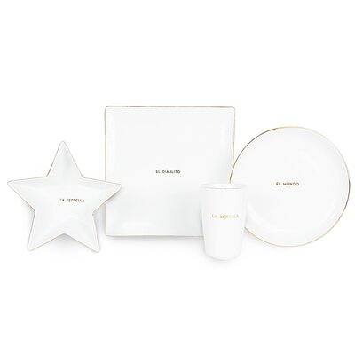 La Loteria 4 Piece Dinnerware Set
