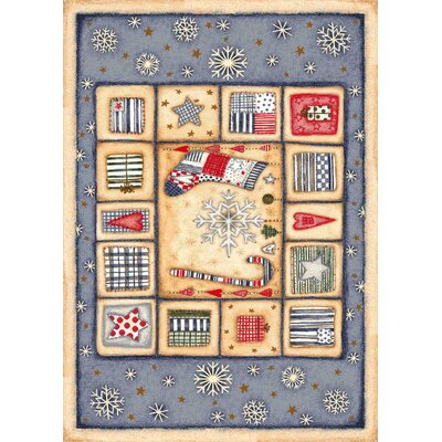 Milliken Winter Seasonal Holiday Patch of Snow Novelty Rug