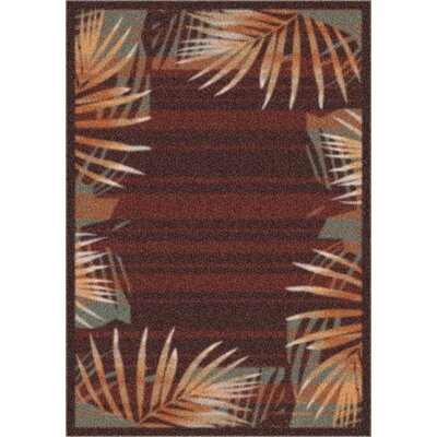 Milliken Modern Times Palm Dark Chocolate Rug