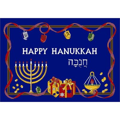 Milliken Winter Seasonal Holiday Happy Hanukkah Novelty Rug