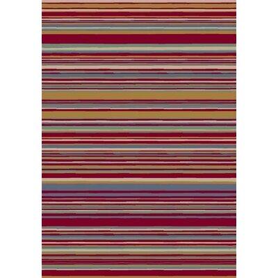 Milliken Innovation Lola Ruby Striped Rug