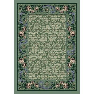 Milliken Innovation Rose Damask Peridot Rug