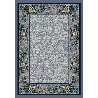 Innovation Rose Damask Lapis Rug