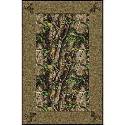 Milliken Realtree Hardwood Solid Border Novelty Rug