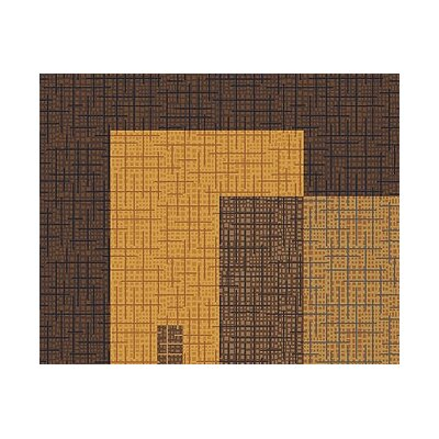 Milliken Pastiche Fairmont Brown Leather Rug