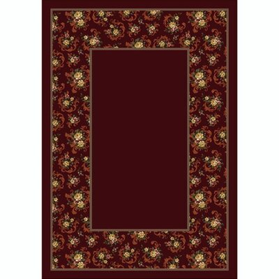 Design Center Cameo Rose Garnet Rug