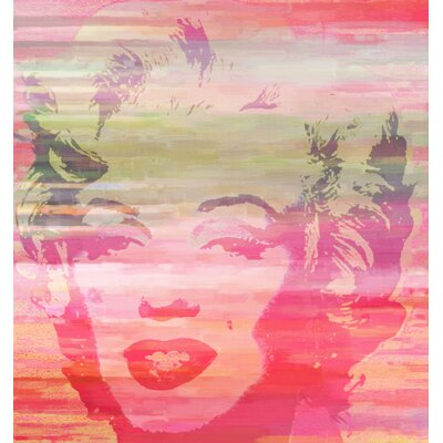Marilyn Sunset Painting Print on Canvas