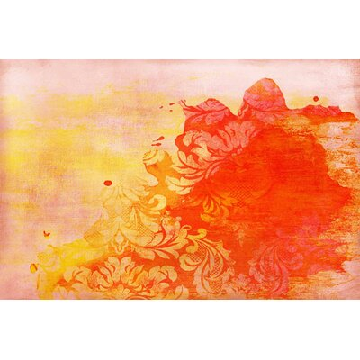 Abstract Painting Print on Canvas in Red