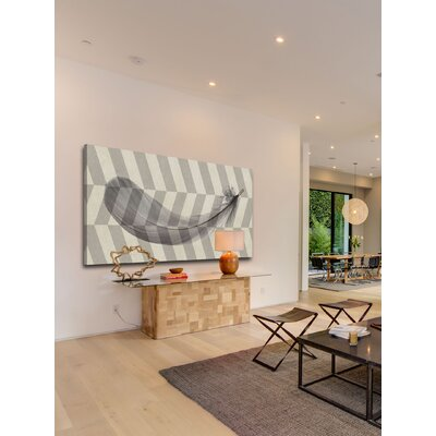 Marmont HIll Flower Feather Painting Print on Canvas