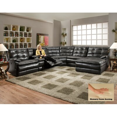 Logan Square LAF Recliner Sectional