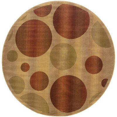 Oriental Weavers Sphinx Generations Tan Circles Rug