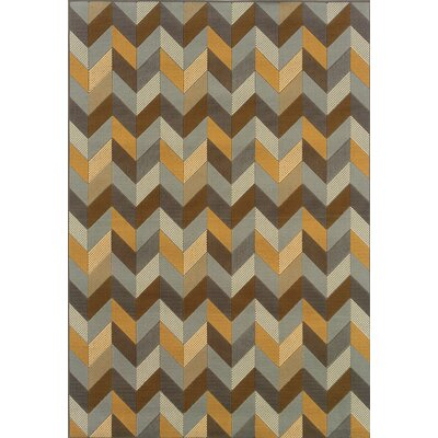Oriental Weavers Bali Grey/Gold Geometric Indoor/Outdoor Rug