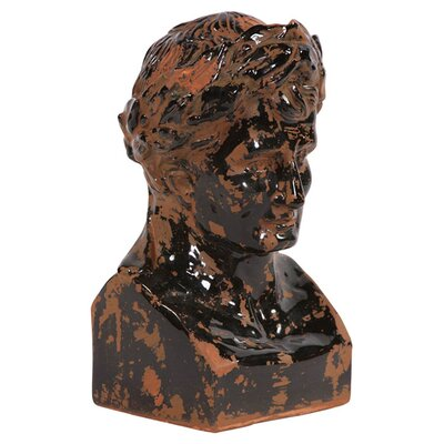 <strong>Howard Elliott</strong> Rustic Glazed Ancient Roman Male Bust