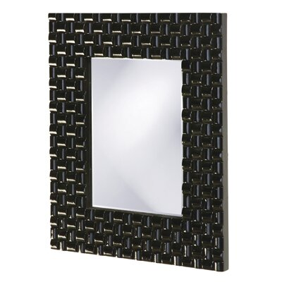 Howard Elliott Justin Rectangular Framed Mirror in Glossy Black