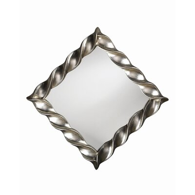 Howard Elliott Minneapolis Wall Mirror in Bright Silver Leaf
