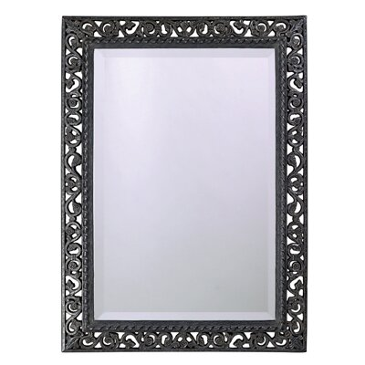 Bristol Wall Mirror in Antique Black
