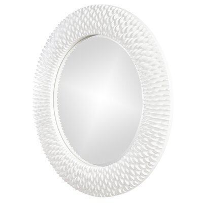 Howard Elliott Bergman Mirror in Glossy White