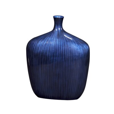 Howard Elliott Medium Sleek Vase in Cobalt Blue
