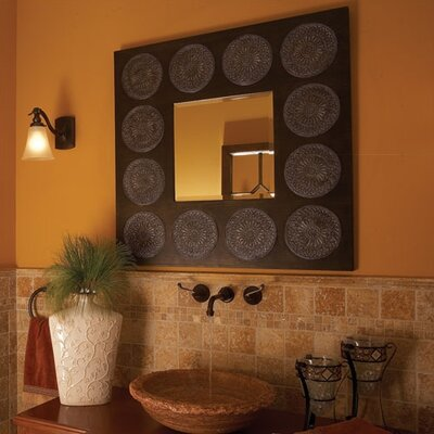 Howard Elliott Hayworth Square Wall Mirror in Oak Stain