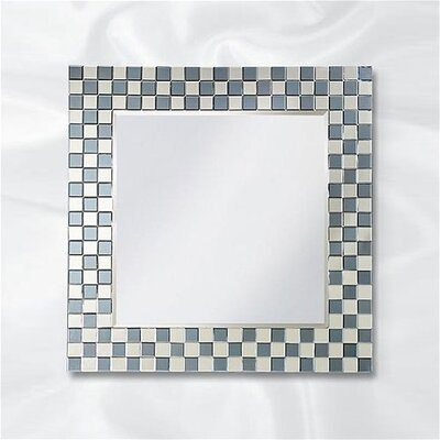 Michael Wall Mirror in Checkerboard Mirror Frame
