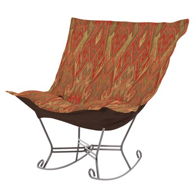 Puff Scroll Ikat Rocker