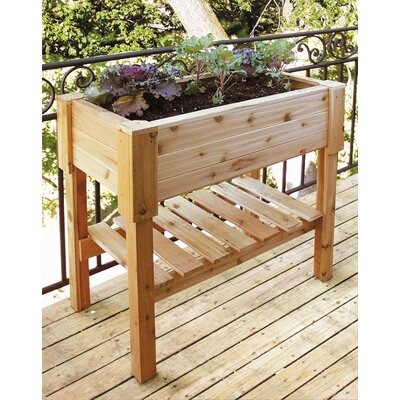 Cedar Creek Large Cedar Rectangular Raised Container Garden