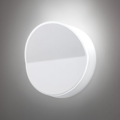Vibia Beta Round Wall Sconce in Soft White Lacquer