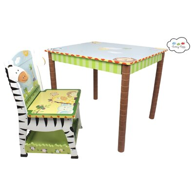 Fantasy Fields Fantasy Fields - Sunny Safari Table & Set of 2 Chairs