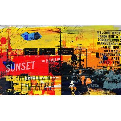 Sunset Blvd 2 Graphic Art on Canvas