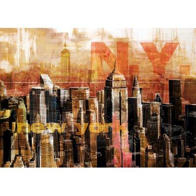 Pop City 5 Graphic Art on Canvas