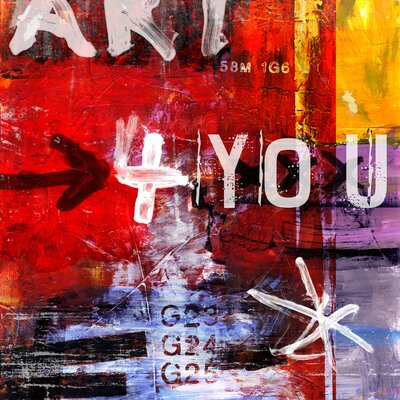 Letra Art 33 Art-For-You Graphic Art on Canvas