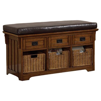 Wildon Home ® Upland Wooden Entryway Storage Bench