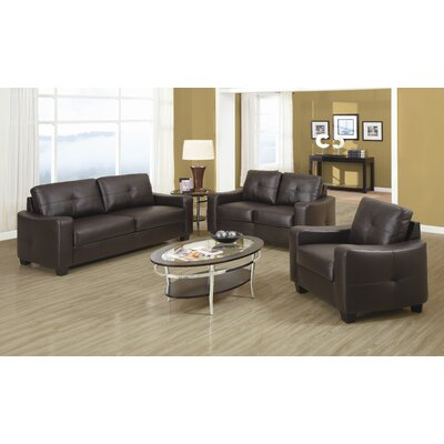 Wildon Home ® Oakwood Leather Living Room Collection