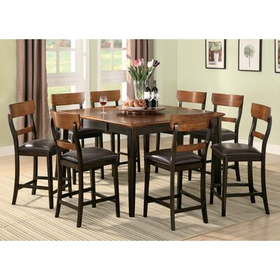 Wildon Home ® Adams 9 Piece Counter Height Dining Set