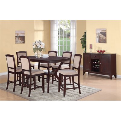 Wildon Home ® Dallas 7 Piece Counter Height Dining Set