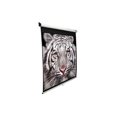 "Elite Screens Slow Retracting Manual Pull Down Projector Screen -1:1 Format  85"" Diagonal"