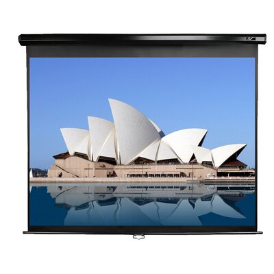 "Elite Screens Manual Series MaxWhite 80"" Projection Screen"
