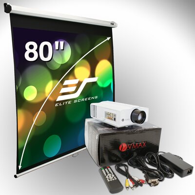 Elite Screens 80&quot; Manual Screen &amp; LED Projector Bundle