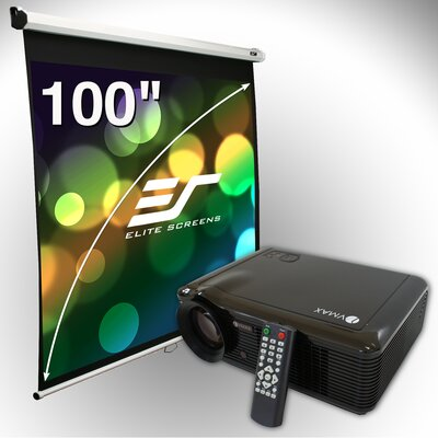 Elite Screens 100&quot; Manual Screen &amp; LED Projector Bundle
