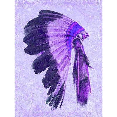 Indio Graphic Art in Purples