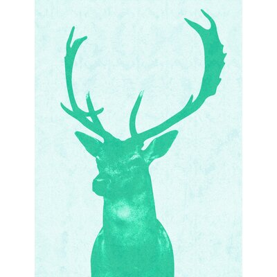 Stag Graphic Art in Green