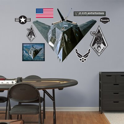 Military F-117 Nighthawk Wall Graphic