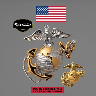 Military USMC Globe and Anchor Wall Graphic