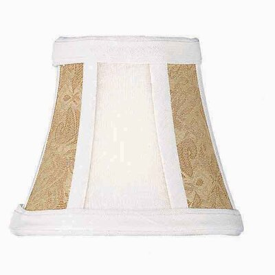 Lite Source Candelabra Bell Shade in White and Light Beige