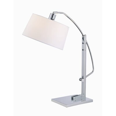 """Lite Source Karm 16.5"""" H Table Lamp with Drum Shade"""