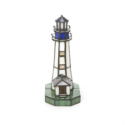 Lite Source Nautical Villager Tiffany Lighthouse Accent Lamp
