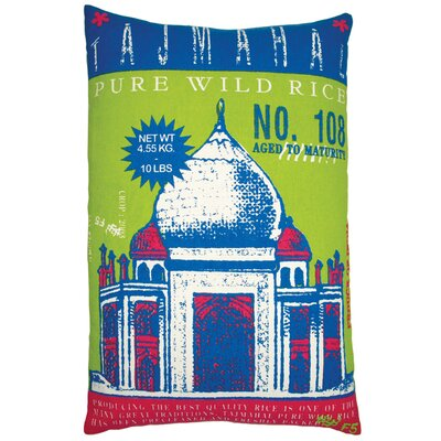 "Koko Company Rice 13"" x 20"" Pillow with Taj Mahal Print"