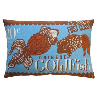 Koko Company Postage Cotton Goldfish Print Pillow