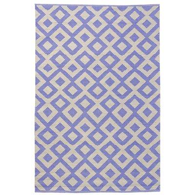 Koko Company Tile Periwinkle/Shell Outdoor Rug